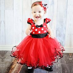 >> Click to Buy << Cute Girl Dress Children Minnie Costume For Kids Clothes Princess Dress Flower Robe Fille Toddler Girl Red First Birthday Outfit #Affiliate