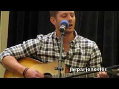 "Jensen Ackles Singing at TorCon 2014. I love the second song he sings, an old Scottish song ""Wild Mountain Thyme"""