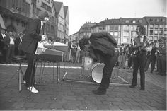 The Doors in 1968 at Romer Square in Frankfurt, Germany.   Photo by Michael Montfort.