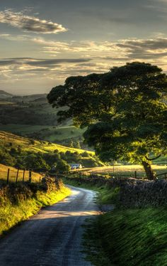 Country road (Peak District, England)  Courtesy of: www.PinterestBob.com (Over 57,000 Photos)