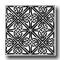 Celtic Knot Designs - Triangular Knotwork from Dunfallandy, Perthshire