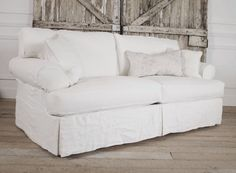Lily Slip Covered Linen Sofa by FullBloomCottage on Etsy, $1995.00