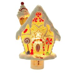 Gingerbread House Night Light from TheHolidayBarn.com