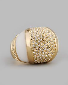 Oct 2013-Domed Crystal Ring, White