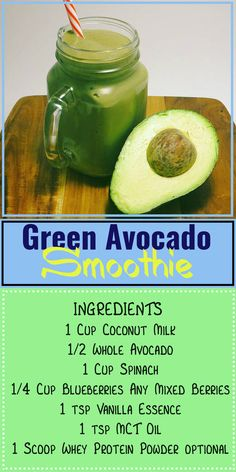 Green Avocado Smoothie! - Can't even taste the spinach!