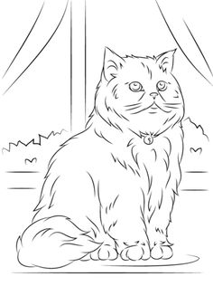 Free Printable Cat Coloring Pages For Kids Cat coloring