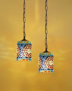 Hand made mosaics ceiling lamps