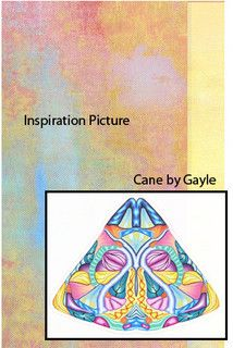 Student's Inspiration Picture with Cane (Gayle) CarolSimmonsDesigns.com