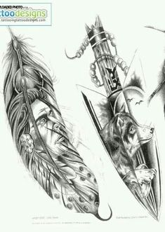 Download Free Indian feather wolf tattoo. Only just the wolf howling in a feather ... to use and take to your artist.