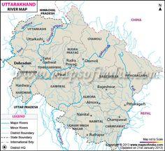 Uttarakhand River Map