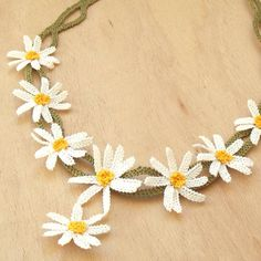 Turkish OYA Lace - Silk Necklace - Daisy by DaisyCappadocia on Etsy