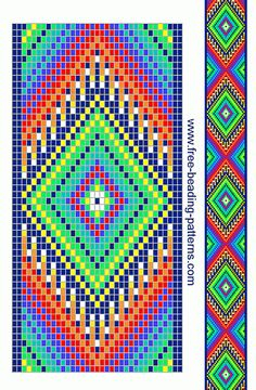 Would work for crochet-Free Native American Beadwork Designs Beading Patterns Free, Seed Bead Patterns, Peyote Patterns, Weaving Patterns, Cross Stitch Patterns, Cross Stitches, Indian Beadwork, Native Beadwork, Native American Beadwork