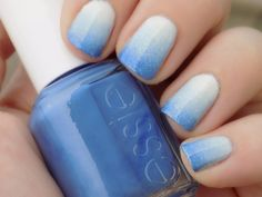 Essie Blue Gradient Nails Natural Light with Private Weekend - Salt Water Happy - Pret a Surfer