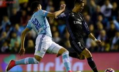 Ronaldo double puts Madrid within point of title