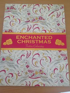 Enchanted Christmas Festive Colouring In Book Adult Relaxation Stress Relief