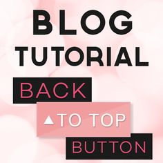 Misses Cherry: Blog-Tutorial: Back-to-Top Button