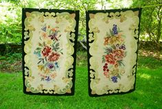 RESERVED for sammyed pair of hooked rugs by OddDucksVintage