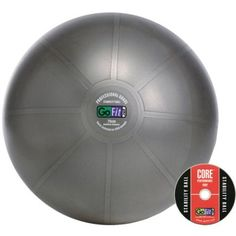 Stretch, tone, and tighten your muscles with the help of this professional grade stability ball and Core Performance DVD set. Core Stability, Go Fit, No Equipment Workout, Fitness Equipment, Total Body, Model Trains, Soccer Ball, Workout Videos