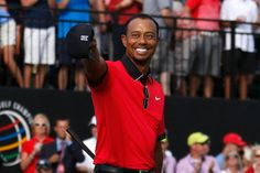 Tiger Woods hugs son Charlie after WGC-Bridgestone Invitational win - SBNation.com   Tiger now has 79 career PGA Tour wins, second most all-time behind Sam Snead's 82