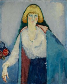 Painting by Kees Van Dongen (1877-1968), 1920, Portrait de Billy, oil on canvas, Centre Pompidou, Paris.