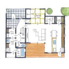 清家修吾さんはInstagramを利用しています:「. 【ボツプラン267】 玄関やDKに収納がたっぷり確保されていて、片付きそうですね。 基本的な部屋のとり方や窓の配置は、こんな感じで良いと思います。 冷蔵庫の位置は家族が使う時邪魔になるかもしれないけど、LDから見えにくい場所なのでスッキリ見えますね。 . .…」