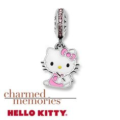 From Charmed Memories®, this Hello Kitty® dangle charm features genuine pink SWAROVSKI ELEMENTS. This charm is crafted in sterling silver with an enamel finish.