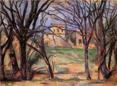 Trees and houses  - Paul Cezanne