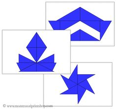 Constructive Triangles Design Cards - 20 design cards for the Montessori Blue Constructive Triangles