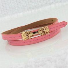 accessoryhut.com/fashion-retro-pink-pu-belt.html