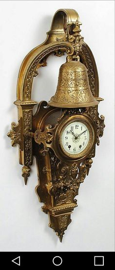 For Sale on - An impressively large Napoleon III period Cartel clock, the case with decoration combining elements of the fashionable Baroque & Renaissance Revival styles. Unusual Clocks, Cool Clocks, Clock Art, Clock Decor, Carriage Clocks, Clock Shop, Retro Clock, Modern Clock, Pocket Watch Antique
