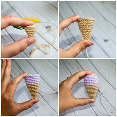 I had a request from a good friend to make a crochet ice cream cone keychain... how can I refuse?? These are so fun and quick! Perfect poo...