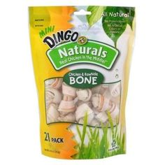 DOG TREATS - ALL OTHER - DINGO NATURALS MINI BONE - 21 PACK - UPG-COMPANION ANML EDWRDSVILLE - UPC: 615650990610 - DEPT: DOG PRODUCTS