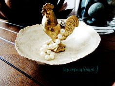 Gold Animal Jewelry Dish Rooster Jewelry Holder Ring Dish Trinket Tray Jewelry Plate Bowl Organizer Jewlery  Ring Holder by unconventionalJ on Etsy