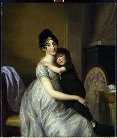 Portrait d'Anne Pauline Dufour-Feronce et de son fils Jean Marc Albert (1802)    Auteur : Tischbein Johann Friedrich August (1750-1812)