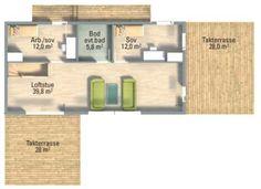 """""""Høvik 2"""" fra Systemhus Floor Plans, Diagram, Modern"""