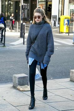 beauty, casual, celebrity, comfy, fashion, kendall jenner, knit, layers, minimalistic, model, model off duty, popular, sporty, streetstyle, gigi hadid, Gigihadid
