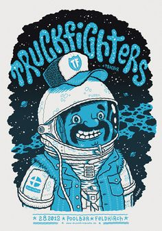 Gig poster Truckfighters | illustration by Michael Hacker