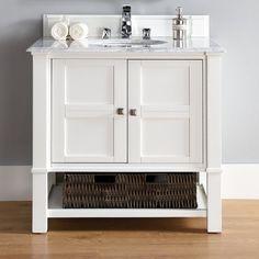 Madison 36 Single Cottage White Bathroom Vanity Set with Price : $ 1189.99