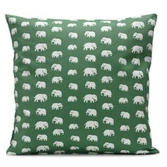 several things in our house are now covered in different colors of this elephant pattern-plates, pillows, laptop trays...