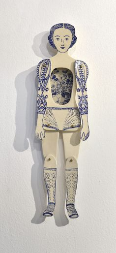 """""""The garden"""" Ceramic piece by Sonia Pulido, illustration, design, craft, drawing, ink, colour, sculpture"""