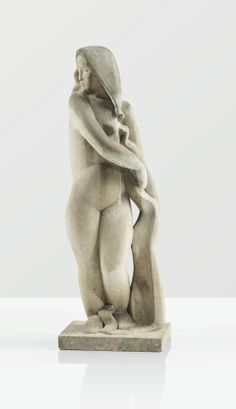 A CARVED STONE SCUPTURE BY JOSEPH CSAKY, DESIGNED IN 1931, EXECUTED IN 1979.