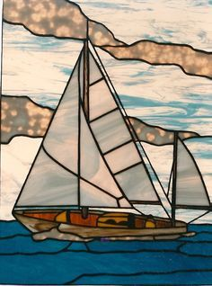 With the effect stained glass provides—light coming through it that looks like the surface of water—nautical scenes fit perfectly. Gibertson's Stained Glass