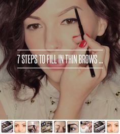 7 #Steps to Fill in Thin Brows ... → #Makeup #Angled