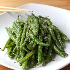 Garlic Parmesan Sesame Stir Fry Green Beans
