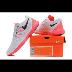 02d5bf5edb9a Nike Free 5.0 size 6.5 coral and white. White Tennis ShoesNike FreeNike  WomenCheap ThingsAthletic ShoesHot ...