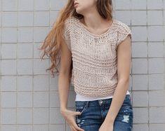 Tejida a mano lana mujer suéter recortada suéter de trigo