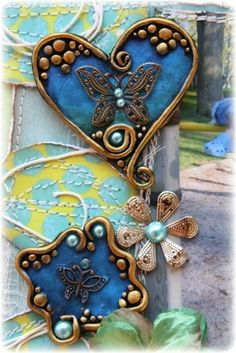 Tutorial by Donna Kato for making these feathers on Polymer Clay Central.