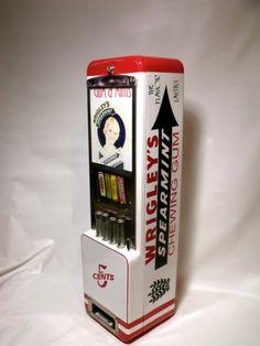 VTG ROWE WRIGLEYS GUM,Lifesavers candy Vending Machine,coin op,Dispenser,display