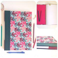 Caderno Folhas Caderno com costura Longstich Buttonhole (aparente). Capa em…