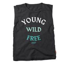 Young Wild Free - Rocker Tee - Vintage Black